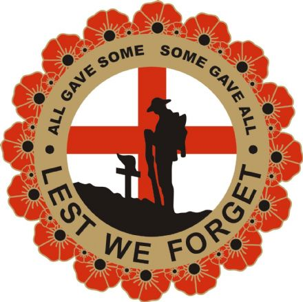 Poppy Lorry Sticker with Soldier, Wreath and England Flag